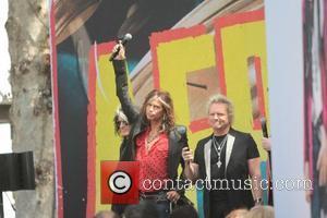 Aerosmith makes an appearance on 'Extra' at The Grove Los Angeles, California - 28.03.12