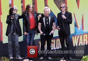 Joe Perry, Steven Tyler, Joey Kramer and Tom Hamilton Aerosmith announce their new, 'Global Warming' Tour at The Grove Los...
