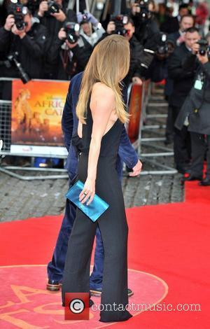 Jacqui Ainsley and Guy Ritchie African Cats UK film premiere held at the BFI Southbank - Arrivals. London, England -...