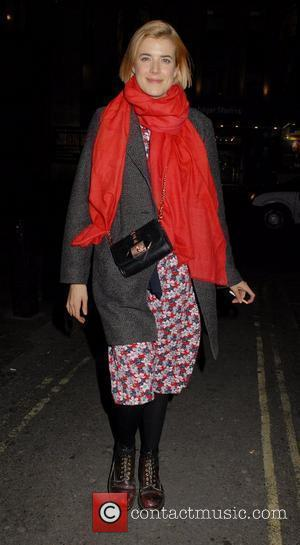 Agyness Deyn leaving Trafalgar Studios Theatre  London, England - 09.03.12