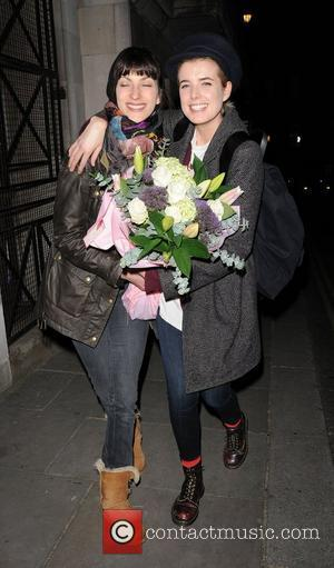 Agyness Deyn leaving the Trafalgar Studios, having performed in a production of The Leisure Society. London, England - 14.03.12