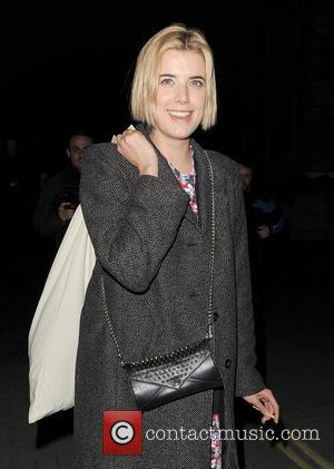 Agyness Deyn leaving the Trafalgar Studios, having performed in a production of The Leisure Society. London, England - 13.03.12