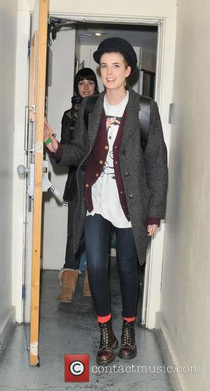 Agyness Deyn leaving the Trafalgar Studios, having performed in a production of The Leisure Society