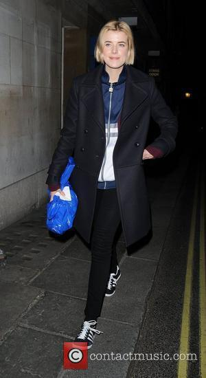 Agyness Deyn leaving the Trafalgar Studios, having performed in a production of The Leisure Society London, England - 20.03.12