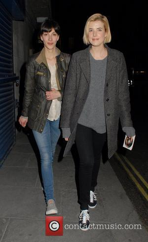Agyness Deyn  leaving the Trafalgar Studios, having performed in a production of The Leisure Society London, England - 30.03.12