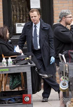 Aidan Quinn on the set of the Pilot, 'Elementary', a modern-day television version of 'Sherlock Holmes' New York City, USA...