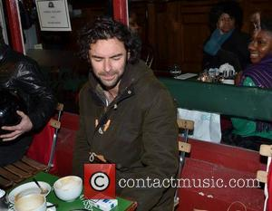 Aidan Turner The Hobbit actor Aidan Turner came over all shy when approached by a giant Innocent Smoothie outside The...