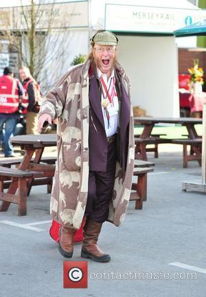 John McCririck Ladies Day at the John Smith Grand National meeting at Aintree Liverpool, England - 13.04.12