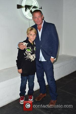 Sean Pertwee and son Alfred Pertwee 'AKA Peace' private view exhibition, held at the Institute of Contemporary Arts on The...