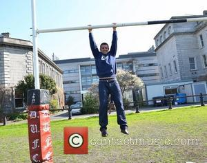 Former Irish international rugby player Alan Quinlan at Trinity College to speak to students about his battles with depression Dublin,...