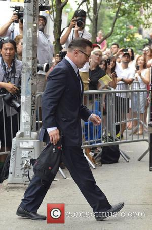 Stephen Baldwin arrives at the wedding of Alec Baldwin held at The Basilica of St. Patrick's Old Cathedral in Little...