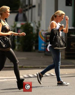 Alex Curran aka Alex Gerrard leaving the Neighbourhood Cafe after having lunch with a friend Liverpool, England - 07.08.12