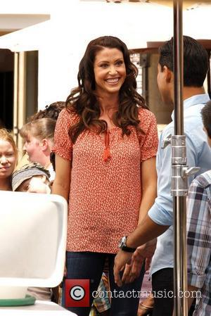 Shannon Elizabeth at The Grove to appear on the entertainment news show, 'Extra' Los Angeles, California - 05.04.12