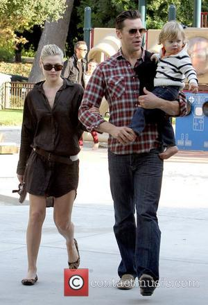 Ali Larter, Hayes MacArthur and Theodore MacArthur enjoy a day together at Coldwater Canyon Park Los Angeles, California - 21.10.12