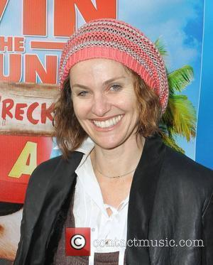 Amy Brenneman The Twentieth Century Fox Home Entertainment's Alvin And The Chipmunks: Chipwrecked Blu-ray and DVD Release Party held at...