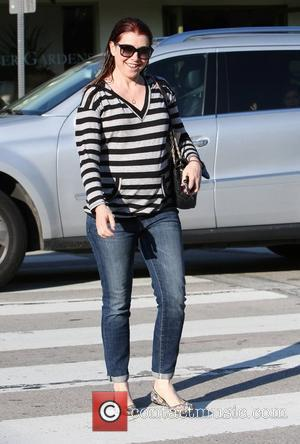 Alyson Hannigan leaves a hair salon in West Hollywood with wet hair Los Angeles, California - 03.02.12