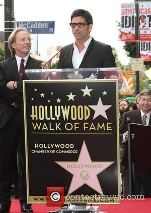 John Stamos and Star On The Hollywood Walk Of Fame