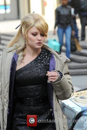 Emilie de Ravin arrives on the set of 'Americana', filming on location in Manhattan New York City, USA - 28.03.12