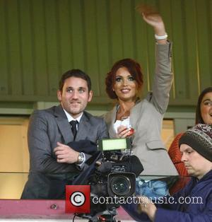 Amy Childs  attends the West Ham v Watford football match, where her nephew is one of the mascots London,...