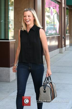 Amy Smart has lunch at The Farm and then does some shopping at Planet Blue in Beverly Hills Los Angeles,...
