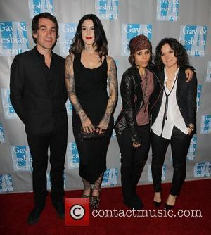 Kat Von D, Linda Perry, Sara Gilbert and Beverly Hilton Hotel