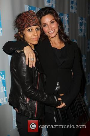Linda Perry, Gina Gershon and Beverly Hilton Hotel