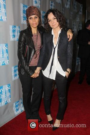 Linda Perry, Sara Gilbert and Beverly Hilton Hotel