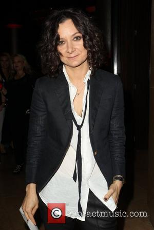 Sara Gilbert and Beverly Hilton Hotel