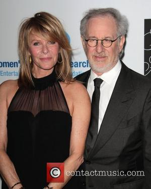 Steven Spielberg, Kate Capshaw and Beverly Hilton Hotel
