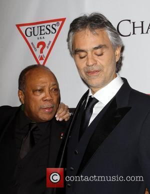 Quincy Jones, Andrea Bocelli and Beverly Hilton Hotel