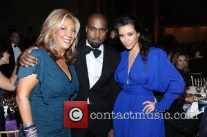 Denise Rich, Kanye West and Kim Kardashian
