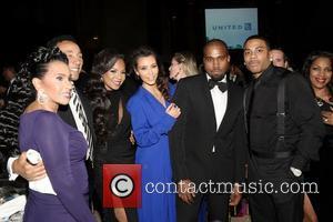 Kanye West, Smokey Robinson, Ashanti, Kim Kardashian, Frances Robinson and Nelly