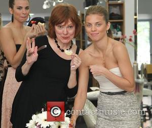 AnnaLynne McCord and Guest at Angel McCord's pre engagement dinner beauty bash at Gavert Atelier Salon in Beverly Hills Los...