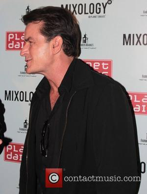 Charlie Sheen Tackling Charity Run