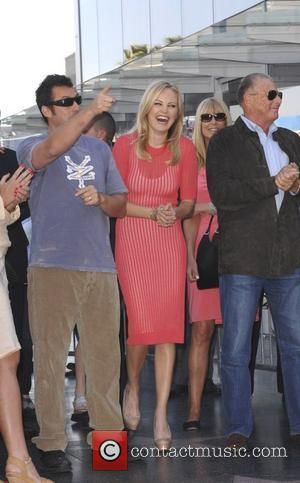 Adam Sandler, Malin Akerman and Star On The Hollywood Walk Of Fame