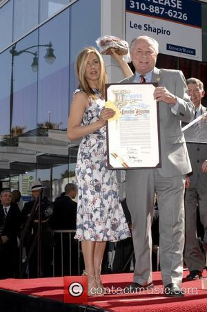Jennifer Aniston and Star On The Hollywood Walk Of Fame