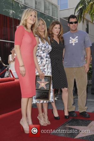 Jennifer Aniston, Adam Sandler, Kathryn Hahn, Malin Akerman and Star On The Hollywood Walk Of Fame