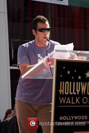 Adam Sandler and Star On The Hollywood Walk Of Fame