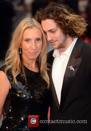 Sam Taylor- Wood and Aaron Taylor- Johnson at the premiere of Anna Karenina at Odeon, Leicester Square, London, England- 04.09.12