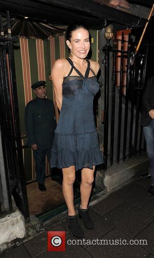 Sophie Anderton arriving at Annabel's private members club in Mayfair. London, England - 02.10.12