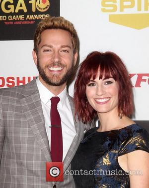 Zachary Levi, Alison Haislip,  at Spike TV's 10th annual Video Game Awards at Sony Studios in Culver City Los...