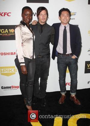 Norman Reedus, Danai Gurira and Steven Yeun