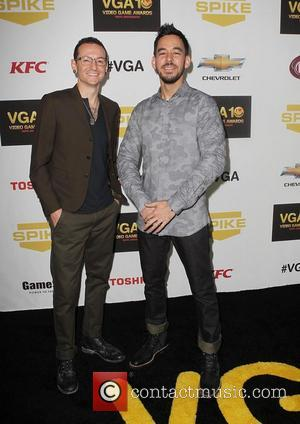 Chester Bennington, Mike Shinoda,  at Spike TV's 10th annual Video Game Awards at Sony Studios in Culver City Los...