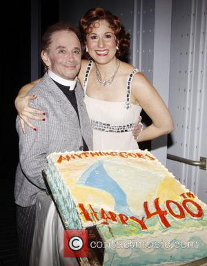 Joel Grey and Stephanie J. Block  The 400th Performance of the Broadway musical 'Anything Goes' at the Stephen Sondheim...