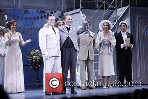 Stephanie J. Block, Robert Creighton, Joel Grey, Julie Halston and cast The 400th Performance of the Broadway musical 'Anything Goes'...