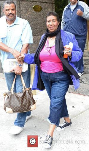 Aretha Franklin leaves her midtown hotel New York City, USA - 03.10.12