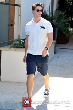 Patrick Schwarzenegger arrives to a restaurant in Hollywood to meet his father and brother for lunch Los Angeles, California -...