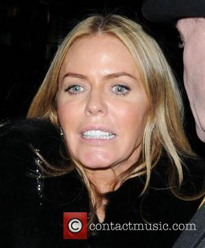 Patsy Kensit leaves The Arts Club in a leopard patterned dress. London, England - 14.03.12