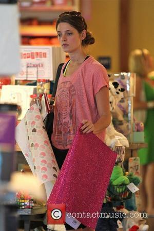 Ashley Greene  seen at a card store for some wrapping paper and a birthday card after her workout in...