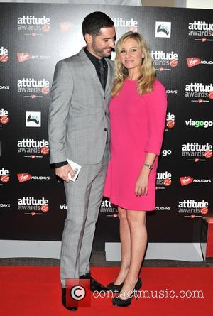 Tamzin Outhwaite and Tom Ellis Attitude Magazine Awards held at One Mayfair - Arrivals. London, England - 16.10.12